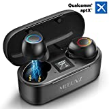 True Wireless Earbuds, MEBUYZ Bluetooth 5.0 Headphones with Qualcomm APTX Stereo Audio, CVC8.0 Noise Cancelling Built-in Mic in-Ear Earphones 32H Playtime with Charging Case Waterproof Sport Earpiece