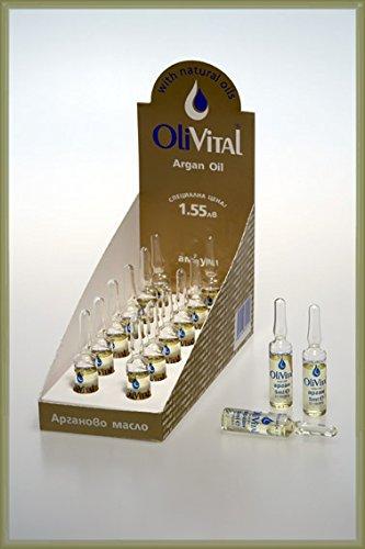 Pure Argan Oil + Natural Vitamin E and B12, 12 Vials x 5 ml from OliVital