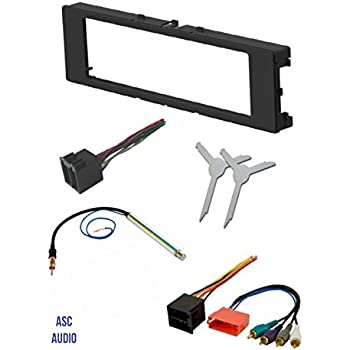 amazon com audi car stereo radio kit dash installation trim bezel Audi TT Carbon Dash Kits asc car stereo install dash kit, wire harness, antenna adapter, and radio removal tool for installing an aftermarket single din radio for 1996 1999 audi a4
