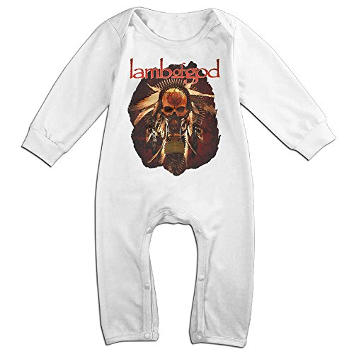 Dara Lamb Band God Boy's & Girl's Long Sleeve Romper Bodysuit Outfits White 12 Months