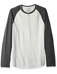 Amazon Essentials Men's Slim-Fit Long-Sleeve Baseball Henley Shirt