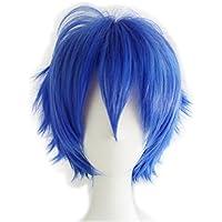 Alacos Short Fashion Spiky Layered Anime Cosplay Wig HalloweenChristmasCarnivalDressUpPretendPlayPartyWigGift+Cap