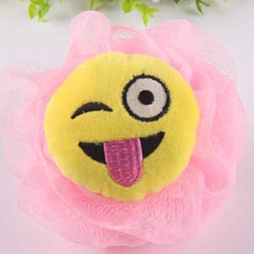 H&JOY Cartoon 1 PC Bath Flower Bath Ball Milk Shower Accessories Bathroom Supplies Loofah Mesh Sponge Super Soft (A)