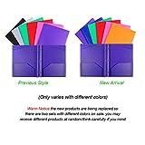 INFUN Plastic Pockets Folders with Brads, Heavy