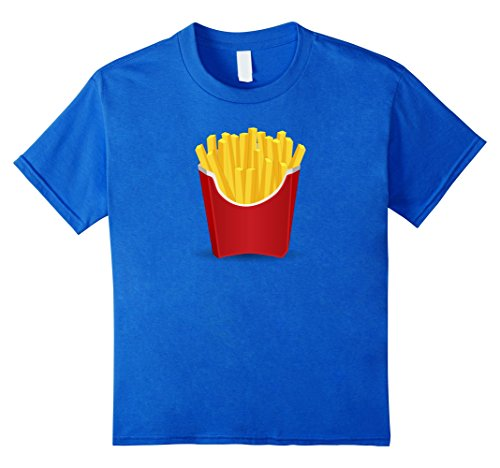 Kids French Fries last minute matching with Burger costume shirt 10 Royal Blue (French Fry Costume Kids)