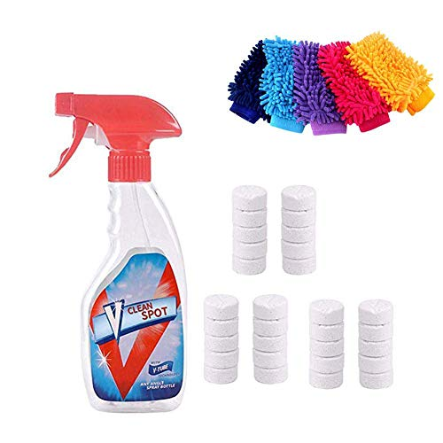31 PCS Multi Functional Effervescent Spray Cleaner Set With 1 Spray Bottle All Purpose Home Cleaning Effervescent Spray Cleaner Perfect for Home Office Car Wood Cloth
