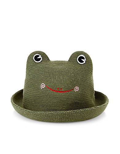 Monsoon Boys Frankie Frog Bowler Hat Size 1-3 Years Green
