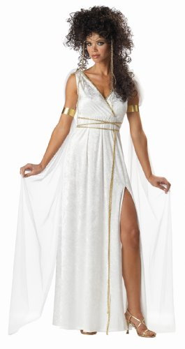 California Costumes Women's Athenian Goddess Costume,White,Large (Greek Goddess Sandals)