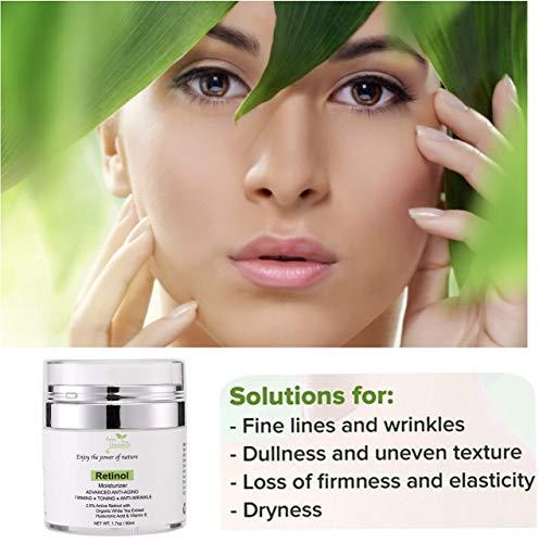 41C3gr4YvDL - Retinol Moisturizer for Face and Eye Area - Wrinkle Cream for Women - Retinol Night Cream with Retinol, Hyaluronic Acid, Shea butter and Vitamin E - 1.7oz / 50m
