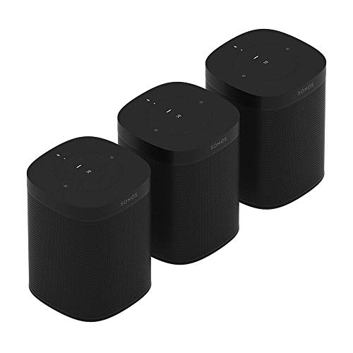 Lowest Price! All-New Sonos One Three Room Set (Black)