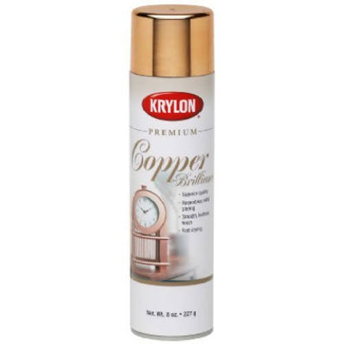 Krylon K01020A07 Premium Copper Metallic Brilliance Spray Paint 8 Ounce