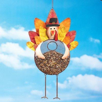 Vine Hanging Bird Feeder (Animal Shaped Mesh Bird Feeder Whimsical Hanging Birdfeeder Garden Decor (turkey))