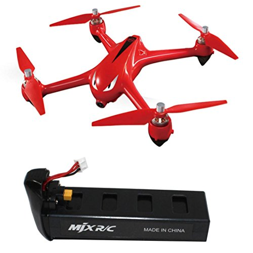 Elaco Durable 7.4V 1800mAh High Capacity Lipo Battery for MJX Bugs 2C/2W RC Quadcopter