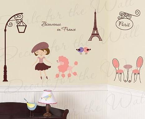 París Francia Trendy French de la torre Eiffel de caniche – Bienvenue en Francia – para