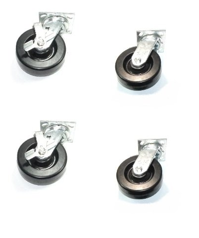 Set of 4 Heavy Duty Albion 16 Series Swivel Casters with 6