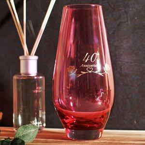 40th Ruby Wedding Anniversary Gifts Crystal Vase