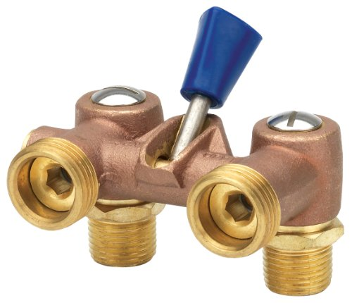 (Homewerks VWM-DUA-F3B Washing Machine Valve, Male Pipe Thread, Brass, 1/2-Inch)