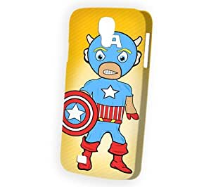 Case Fun Samsung Galaxy S4 (I9500) Case - Vogue Version - 3D Full Wrap - Angry Captain America