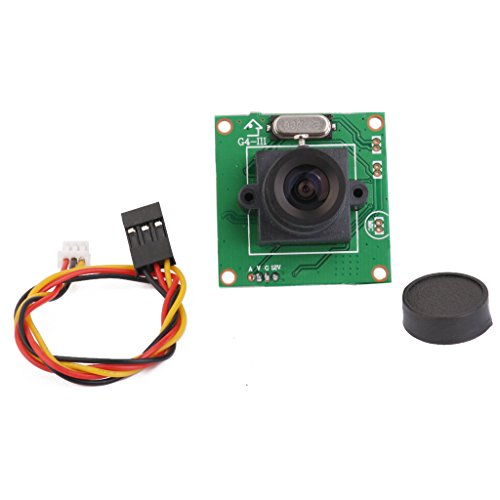 Jili Online PCB Board Camera CCD , CCTV Board Camera 1/4'' PCB mainboard Chips with 3.6mm 1080p Lens for SONY CCD (Color Board Camera)