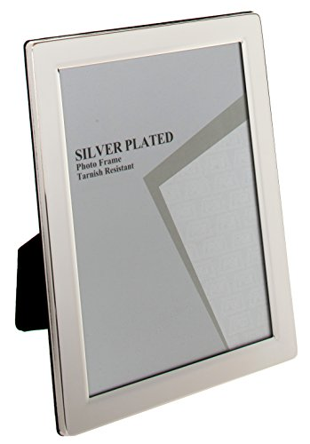 International Silver Plated - Viceni Plated Flat Edge Photo Frame, 8 by 10-Inch, Silver Plated