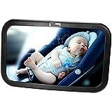 Miroir De Voiture Pour Bébé | Rétroviseur Sécurité Extra Grand Pour Siège Arrière | Ajustable Sur 360° et Inclinable | Qualité Supérieure