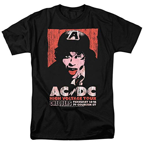 AC DC High Voltage Album Tour T Shirt & Exclusive Stickers (Large) Black