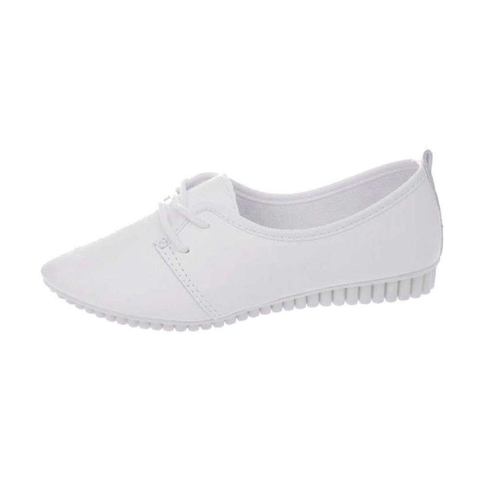 Datework Women Slip On Comfort Flat Shoes B01L8EFPM4 39 M EU|White