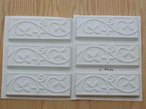 Set of six 2.75x8 Vine and Leaf Runner, Wall Tile Trim Molds #0160-6