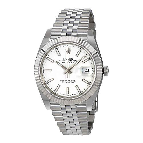 Rolex Datejust 41 White Dial Automatic Mens Watch 126334WSJ