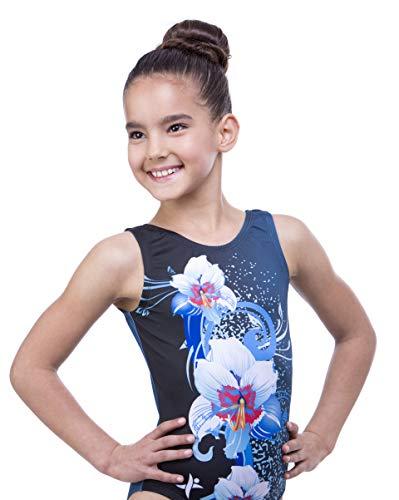 (Gymnastics Leotards for Girls Sleeveless Gymnastics Leotard, Blue Leotard, 8 Leotard)