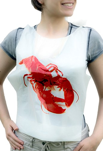 Set of 44 for Seafood Feast - 22 Disposable Adult Size Lobster Bibs (20