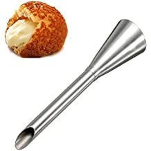 YIJIA Stainless Steel Icing Piping Nozzles Cream Beak Pastry Puff Cream Injector Cake Nozzle Confectionery Tool Cake Decorating Tool (Pack of 5)
