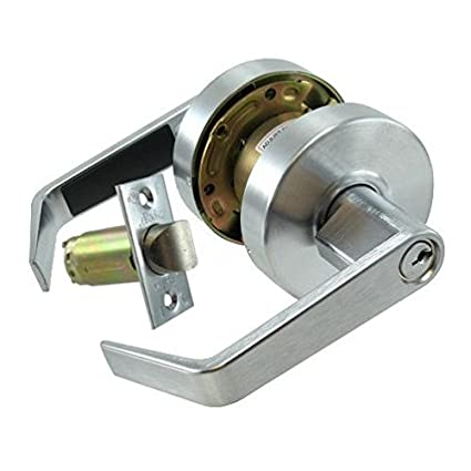 Dull Chrome Lever Entry Lockset