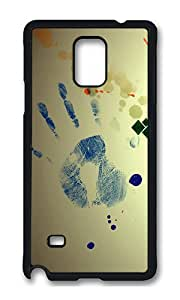 Samsung Note 4 Case,VUTTOO Cover With Photo: Abstract Art Design For Samsung Galaxy Note 4 / N9100 / Note4 - PC Black Hard Case