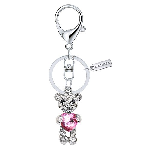 Bling Teddy Bear with Pink Heart Keychain Creative Packaging Box (Bling Teddy)