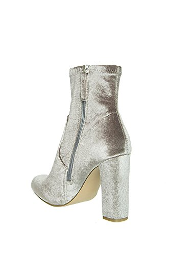 Steve Edit Madden Boot Ankle Velvet Grey r5rqnd48