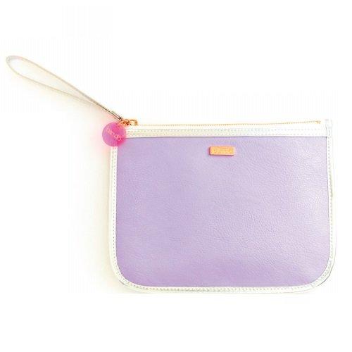Ban. do Fancy Kupplung mit Wristlet Tasche, lila und silber