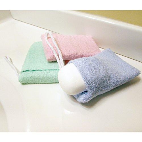 Evelots Soap Saver Holder Pocket Bag 100 Terry Cloth On A