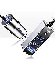 Carregador veicular - Premium Maker - Baseus- Mult-Funcional 4 USB 5.5A