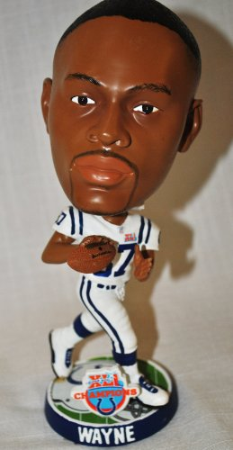 Reggie Wayne Nfl - RARE Indianapolis Colts Reggie Wayne #87 NFL approved Super Bowl CHAMPIONS Super Star Commerative Big Head bobblehead