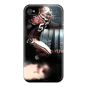 New Style Tpu 4/4s Protective Case Cover/ Iphone Case - Willis Patrick San Francisco 49ers