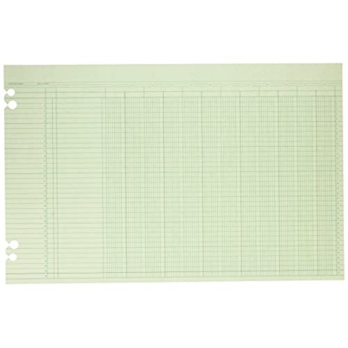 50 OFF Wilson Jones Green Columnar Ruled Ledger Paper 12 Columns
