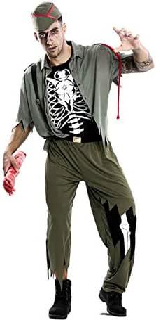 EUROCARNAVALES Disfraz de Esqueleto Legionario para Hombre: Amazon ...