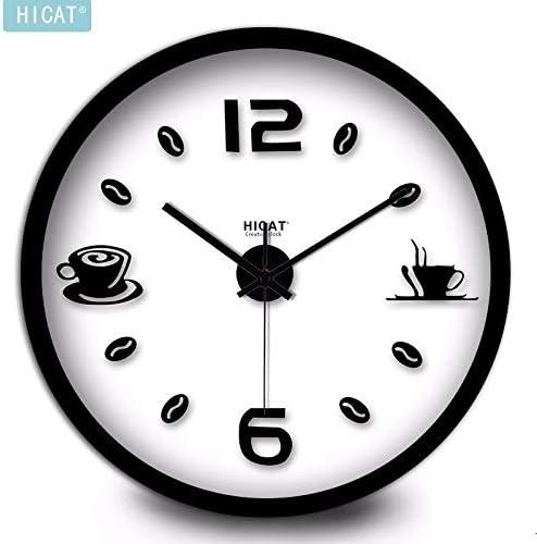 ZloveM Reloj De Pared Silencioso Redondo Reloj para Hogar, Sala De ...