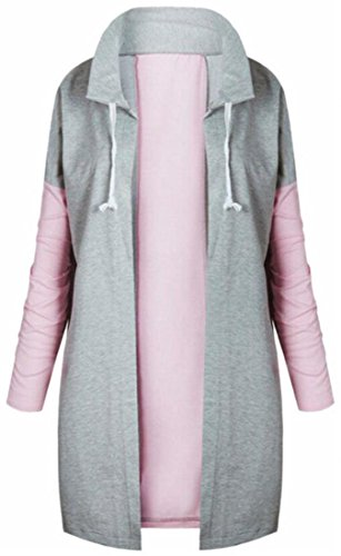today Collar Up Zip Coat Solid Warm Winter Grey Color Womens Padded Stand UK r4Hrn