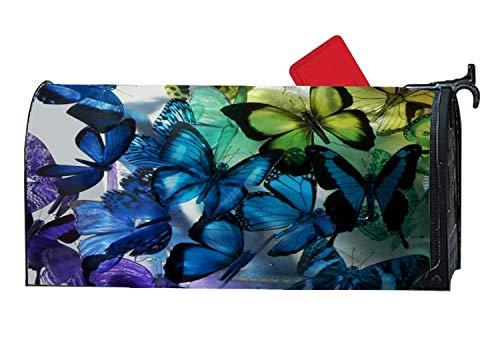 Customized Magnetic Mailbox Cover Standard Mailbox Wrap with Butterfly Themed Design, 6.5 x 19 Inches - Cake Australian