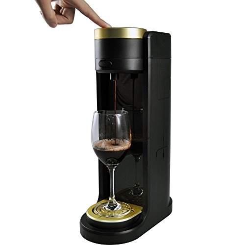 Dasiaa Original. Luxury Portable Electric Wine Aerator Dispenser with Cooler Cup