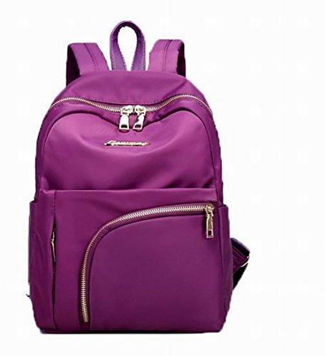 Zippers à Nylon VogueZone009 Violet Mode Femme dos Sacs Décontractée Daypack YTc5wqa