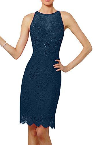 Damenmode Blau Festlichkleider Tinte Etuikleider Kleider Abendkleider Promkleider La Kurzes Figurbetont Jugendweihe Brau mia Spitze OZwxAvaq