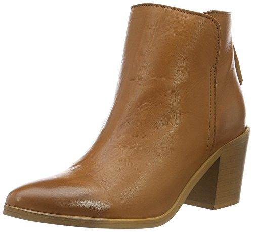 PIECES Psdolly Leather Boot Cognac, Botines para Mujer Marrón (Cognac)